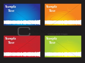 business cards with colorful background