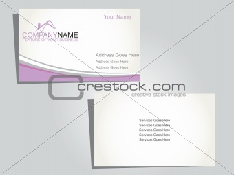 corporate business tag with purple wave
