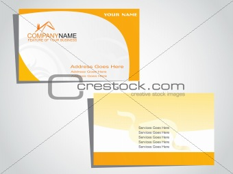 corporate identity business card in white and yellow