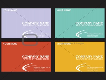 corporate identity detail in card