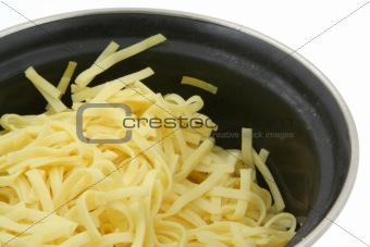 pot of boiled pasta