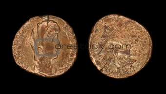 follis coin from Roman empire