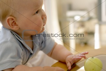 baby bot with apple