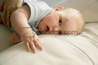 baby boy resting