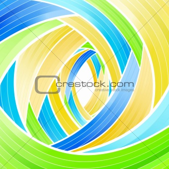 Lined stripes spiraling background
