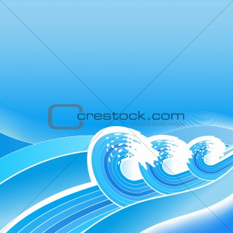 Summer business waves background