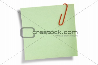 Green remainder note isolated.