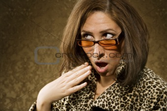 Shocked Hispanic Woman