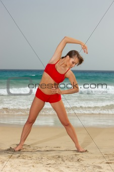 Fitness on beach