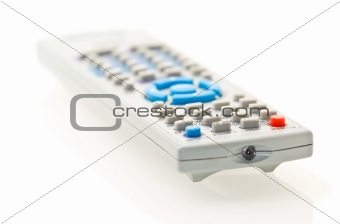 grey remote control for TV