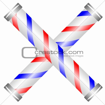 Crossed barber pole