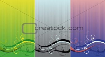 three backgrounds