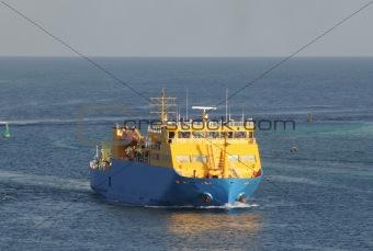 Cargo ship approaching