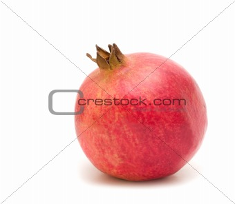 one pomegranate on white background