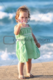 Beauty girl at beach