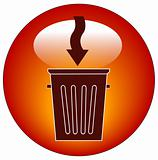 putting garbage in the trash icon