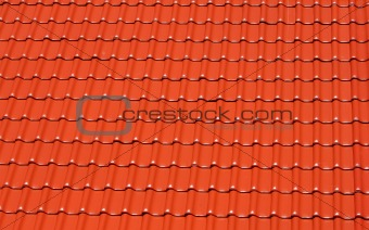 background made of bright red roofing tiles