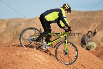 Freeride on red canyon
