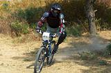 Mountain biker on race