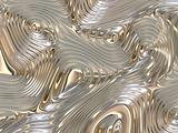 Soothing Liquid Flowing Metal Abstract Background