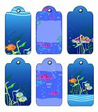 Gift tags with  Tropical fishes
