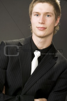 Portrait of handsome young businessman