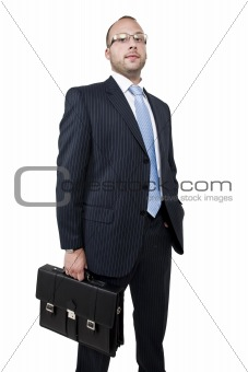 businessman with business bag
