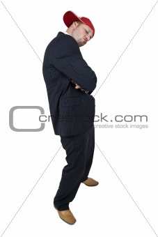 posing businessman