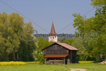 Cabin with Church