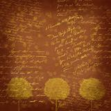Vintage background - trees abstraction