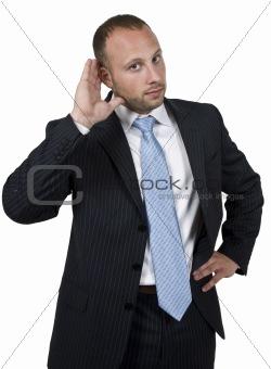 hearing man