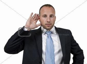 listening businessman