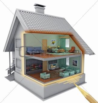House inside model