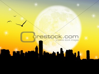 City in the moon
