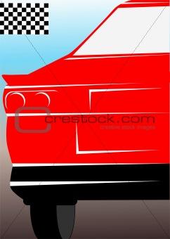 car and race flag