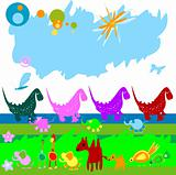 dinosaurs and other little animals