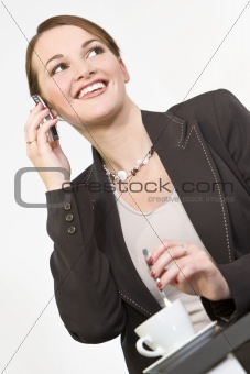 Happy Executive Phone Call