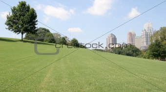City Past Grassy Hill