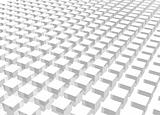 White Crowd 3d Cube Art