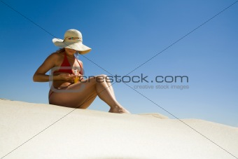 Before sunbathing
