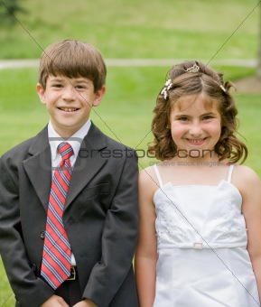 Flower Girl and Young Boy