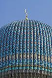 top of tiled dome