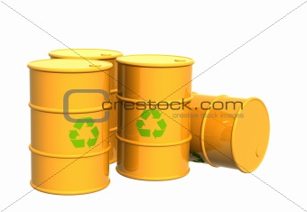 Four tanks of yellow colo