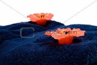 Candles on Towel