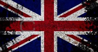 Grunge Flag Of UK