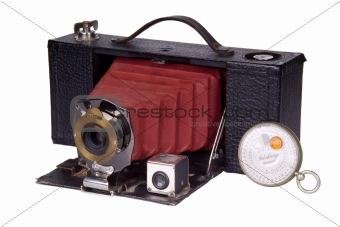 Classic Film Camera and Light Meter