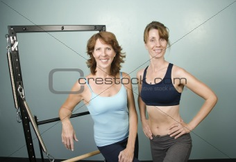 Portrait of Women in a Gym