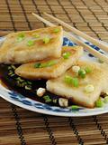 Taro Cakes in Sauce