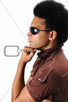 Trendy male model