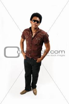 African model standing